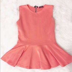 Tops - Peach Peplum top